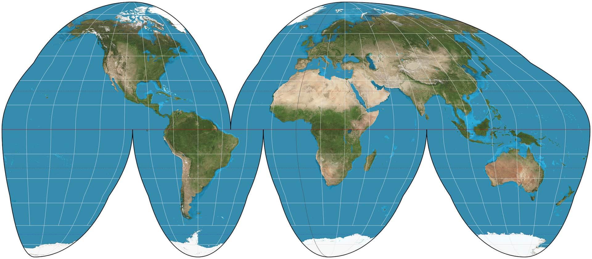 cartographie du monde Goode