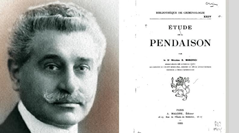 Nicolae Minovici pendaison étude
