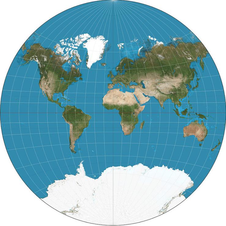 cartographie du monde Van der Grinten