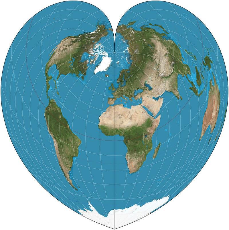 cartographie du monde Werner