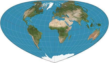 cartographie du monde Bottomley