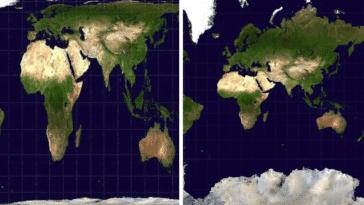 cartographie du monde Mercator