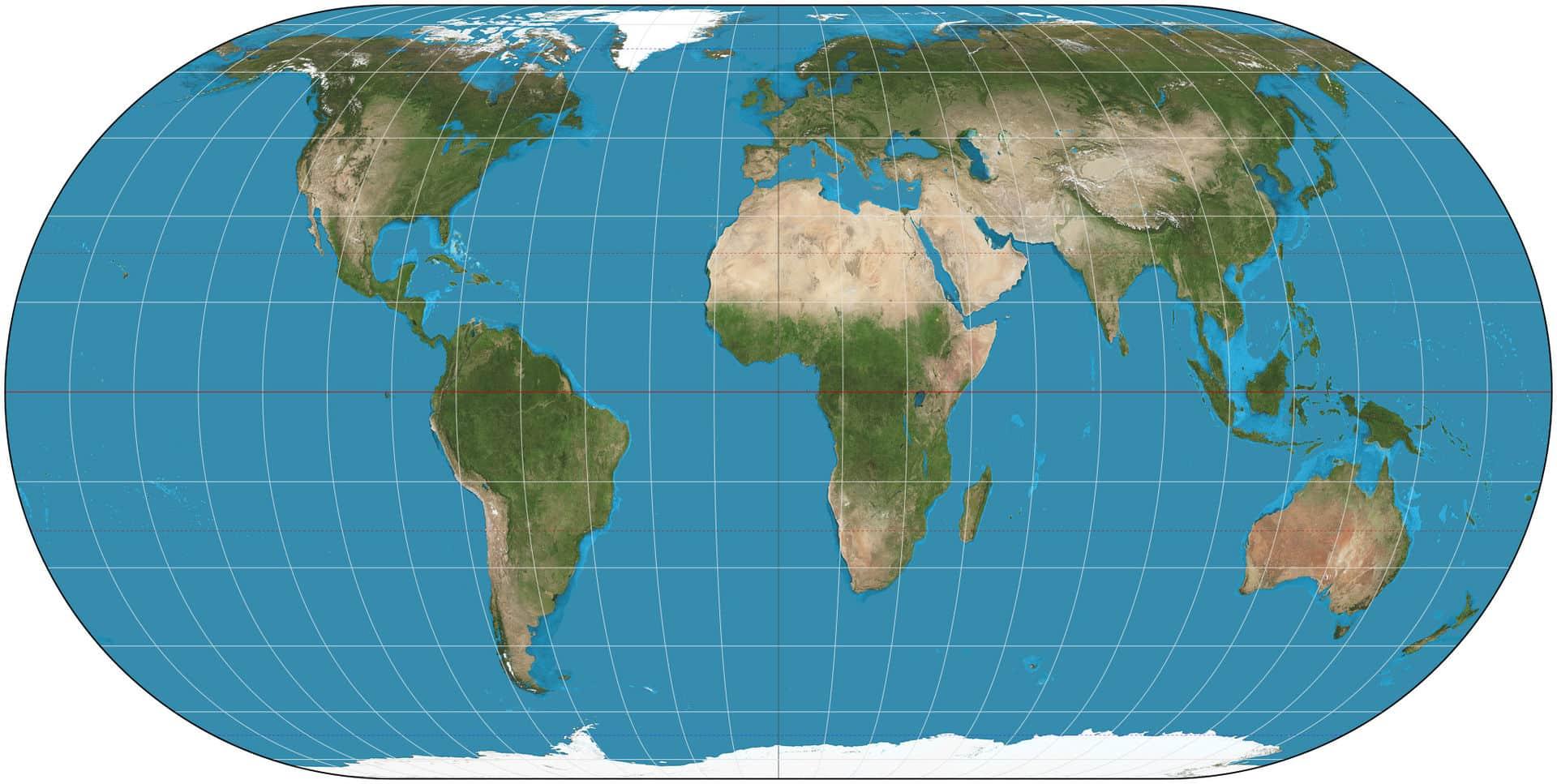cartographie du monde Ecker IV