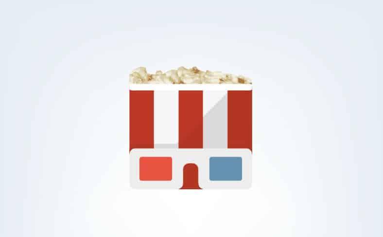 cinéma popcorn lunettes 3D