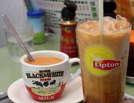 boire le café à Honk Kong en Chine