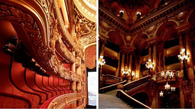 intérieur balcon opéra Garnier à Paris