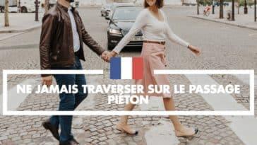 habitude française traverser passage piéton paris