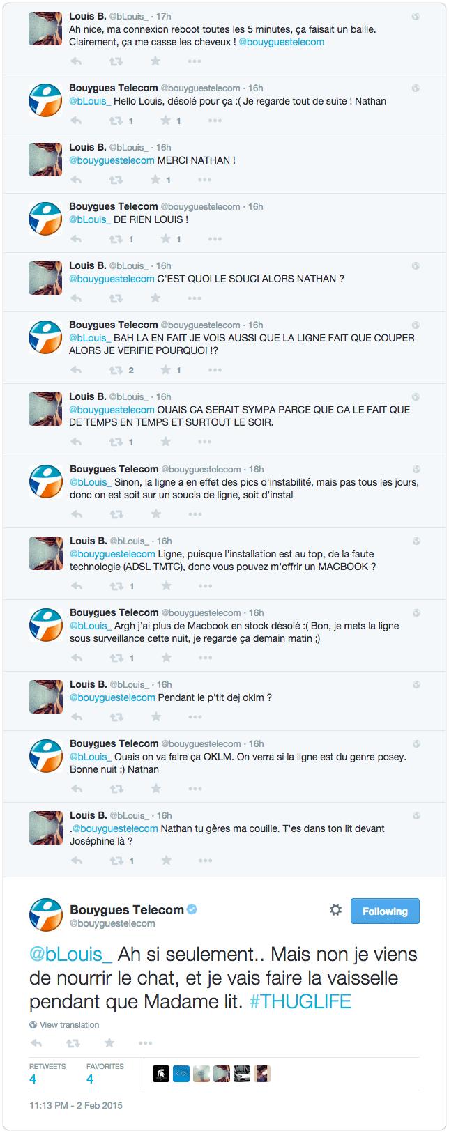 Tweet de geek community manager