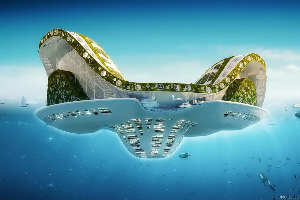 Ville Artificiel Dans La Mer Projet