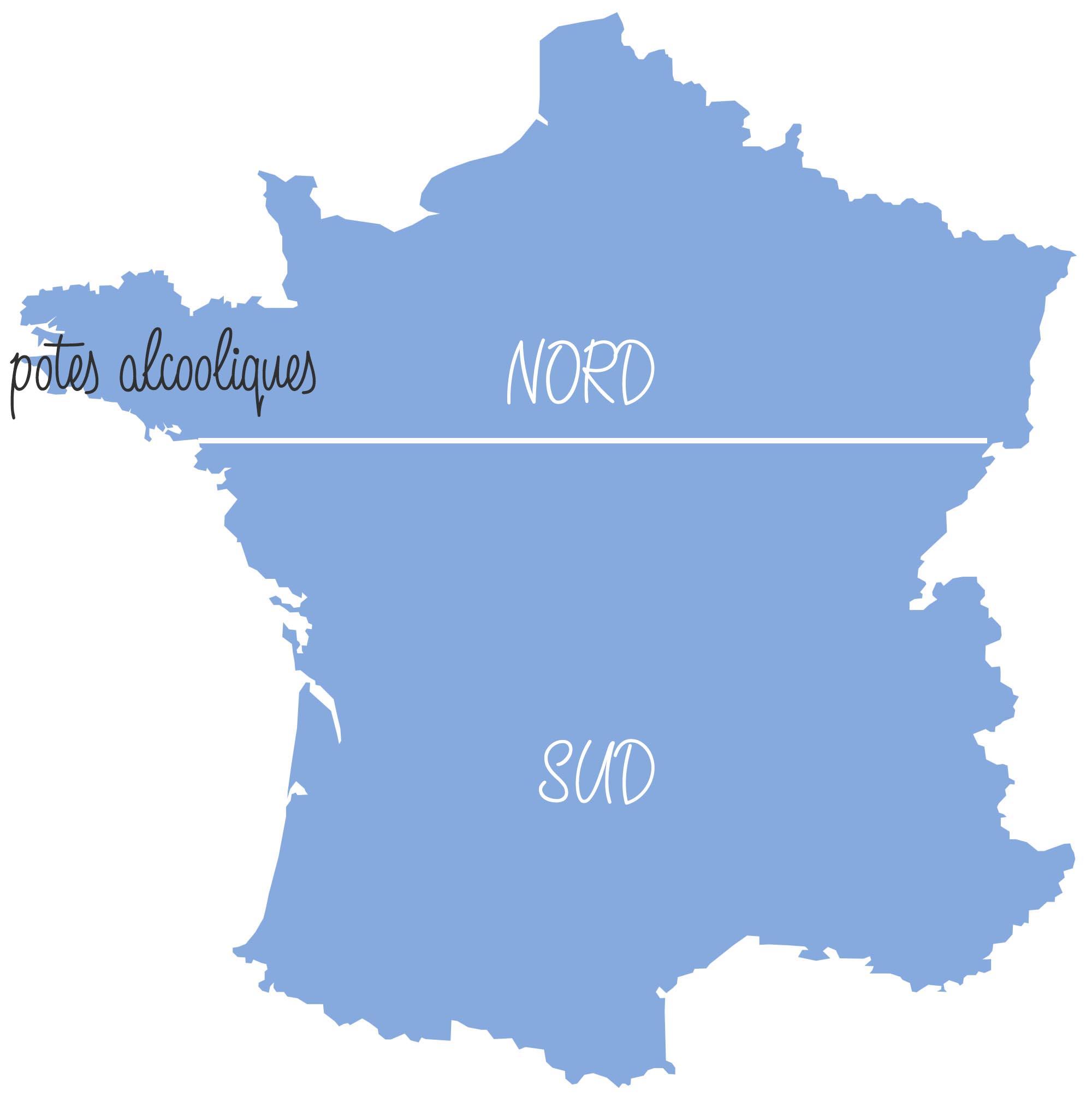 réputation des français par région de France carte