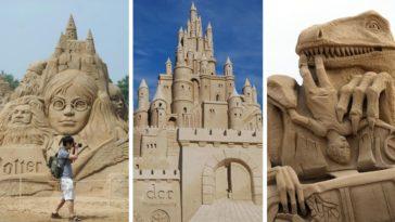 châteaux de sables incroyables photos sculptures statues