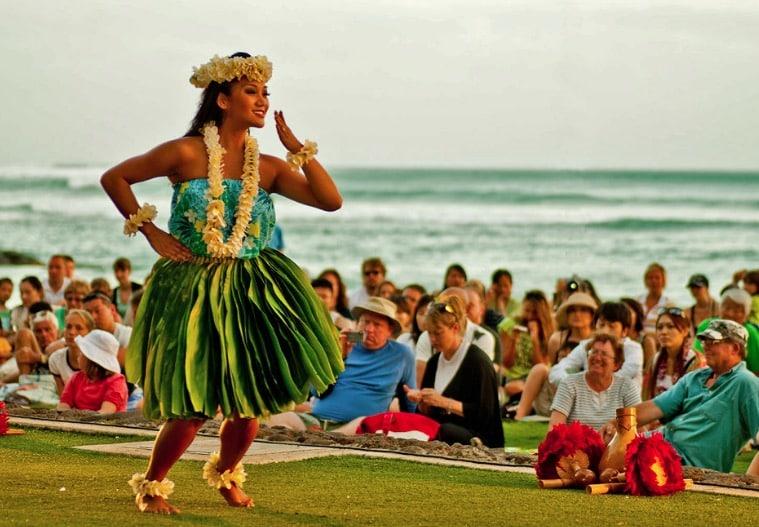 danse hawai hula plage