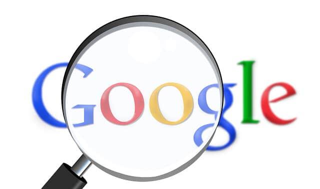 logo Google loupe moteur de recherche