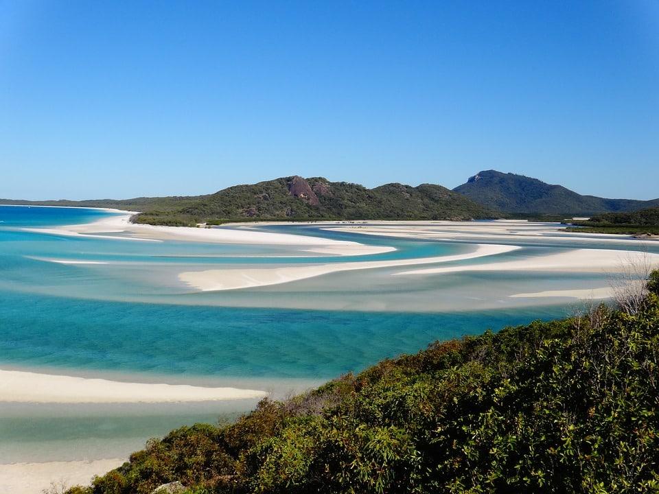 plage de sable blanc Australie