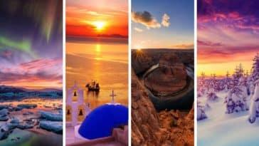plus beaux couchers de soleil pays monde