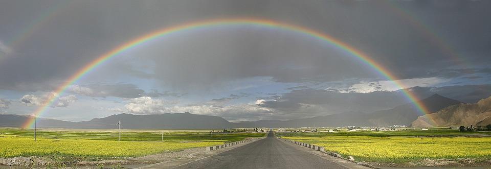 tibet arc orage photo paysage