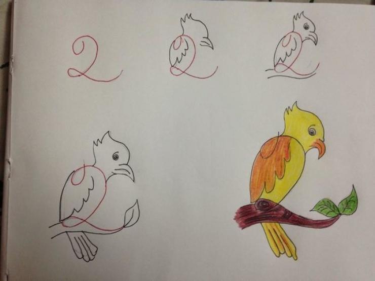 dessins enfant à partir de chiffres et nombres