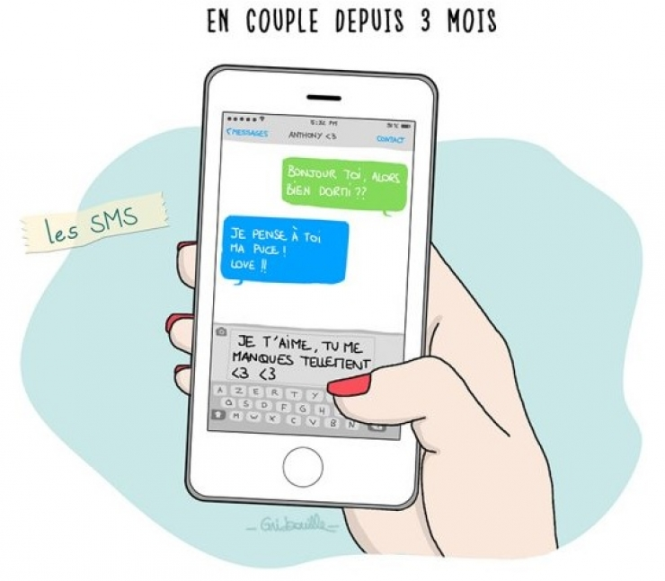 dessins humour illustrations textos couple