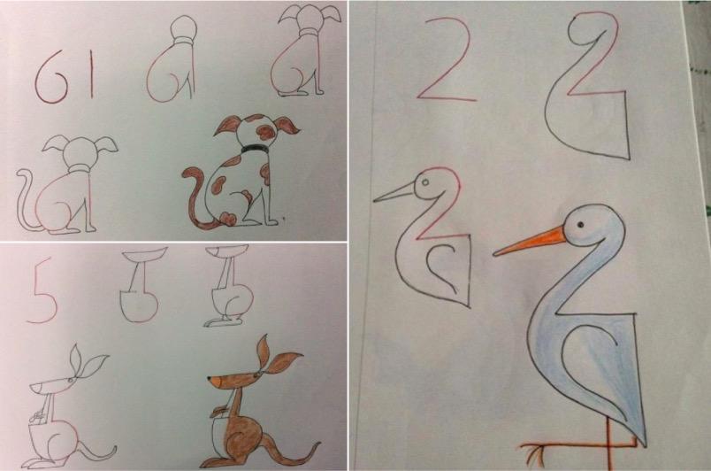 dessins enfant chiffres nombres