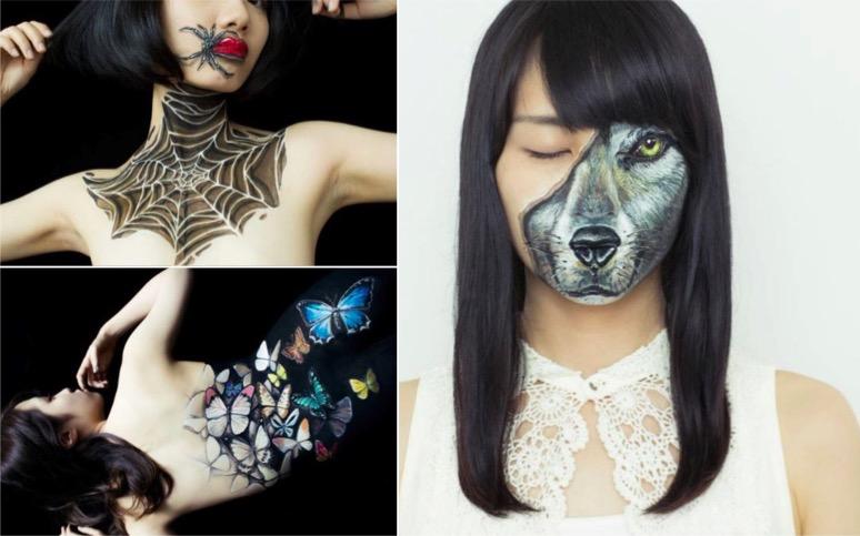 8 peintures sur corps (body painting) incroyables