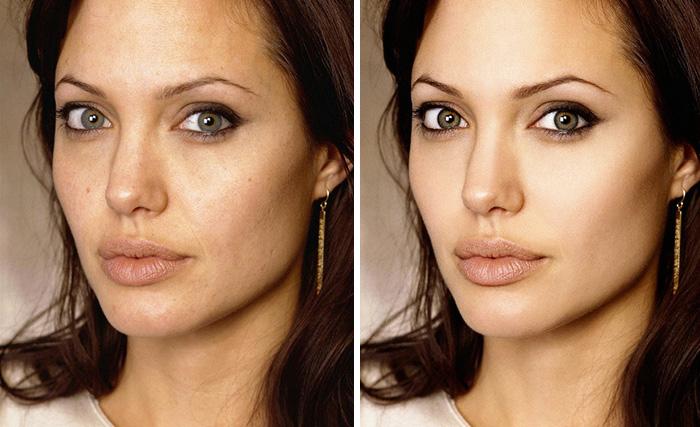 photos stars retouchées photoshop angelina jolie
