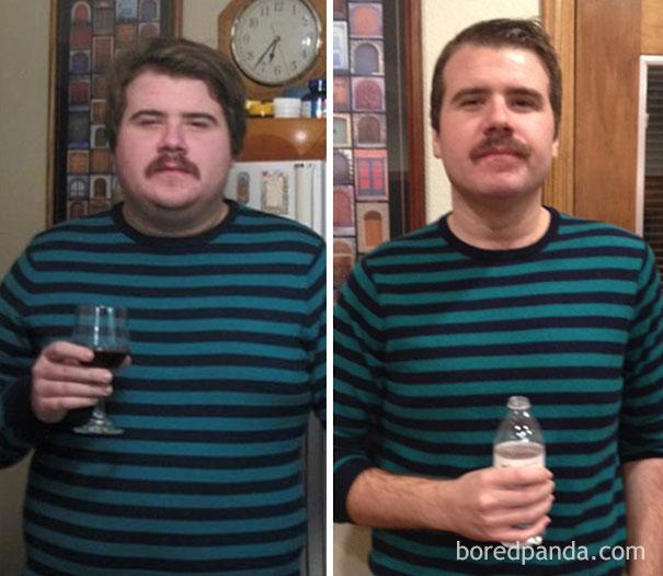 transformation avant apres alcool boire buveurs