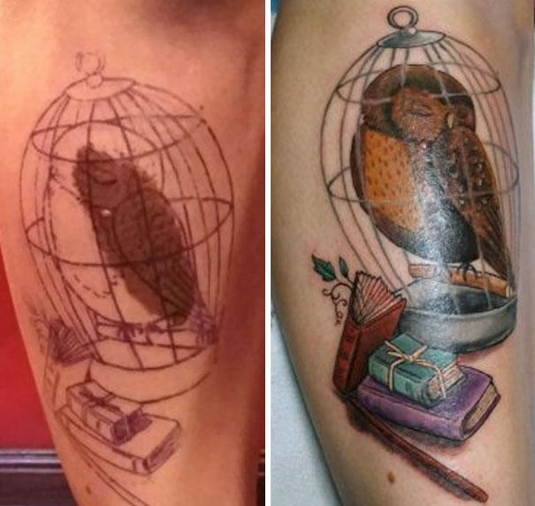 taches de naissance tatouages tache de vin cage oiseau