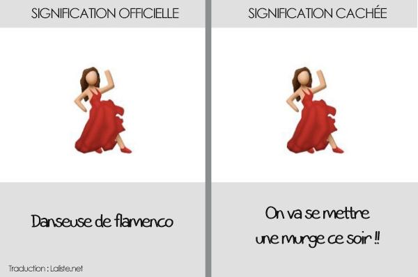 emoticone danseuse de flamenco smartphone
