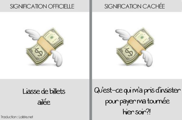 emoticone smartphone liasse de billets