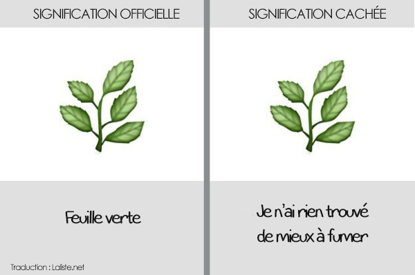 emoticone feuille arbre