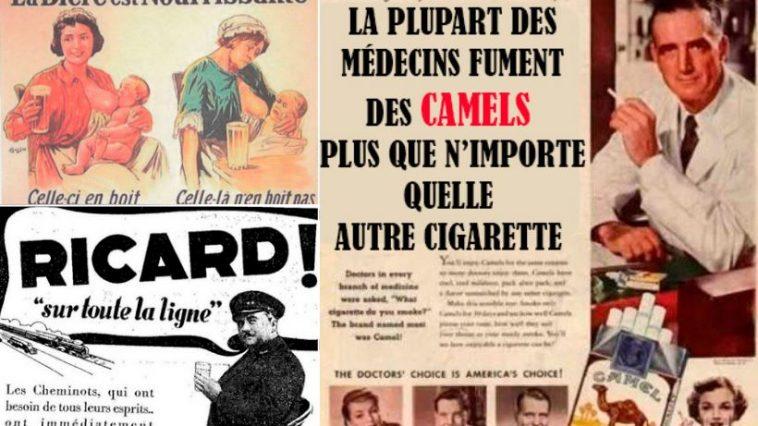 publicités vintage scandale affiches