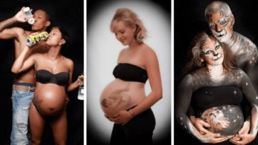 photos de grossesse etranges futurs parents femme enceinte