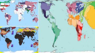 cartes géographiques monde atlas insolites