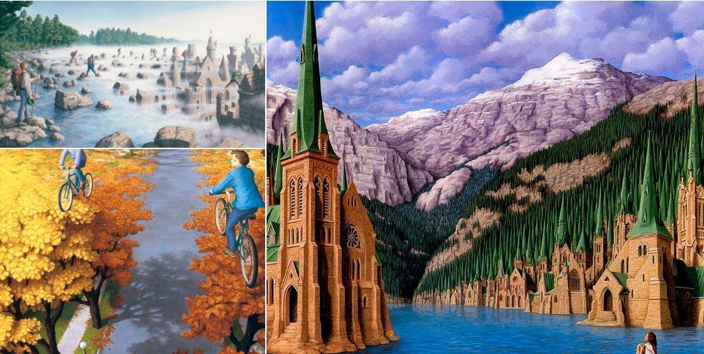 25 peintures aux illusions d 39 optique incroyables la liste for Illusion d optique peinture