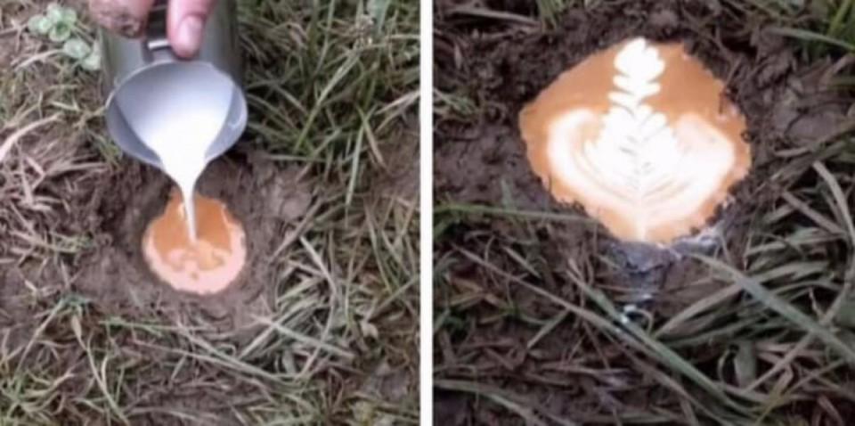 photos inexplicables café dans la bouse de vache boue
