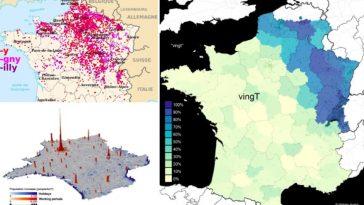 cartes de France différentes