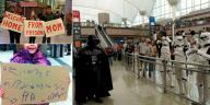 panneaux d'accueil aéroports insolites