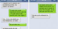 téléphone écran messages de couple textos sms