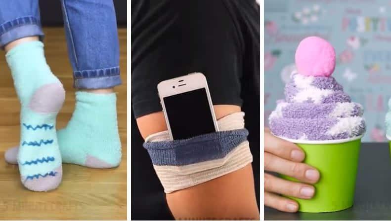 12 choses incroyables que vous pouvez faire vous m me avec vos chaussettes la liste. Black Bedroom Furniture Sets. Home Design Ideas