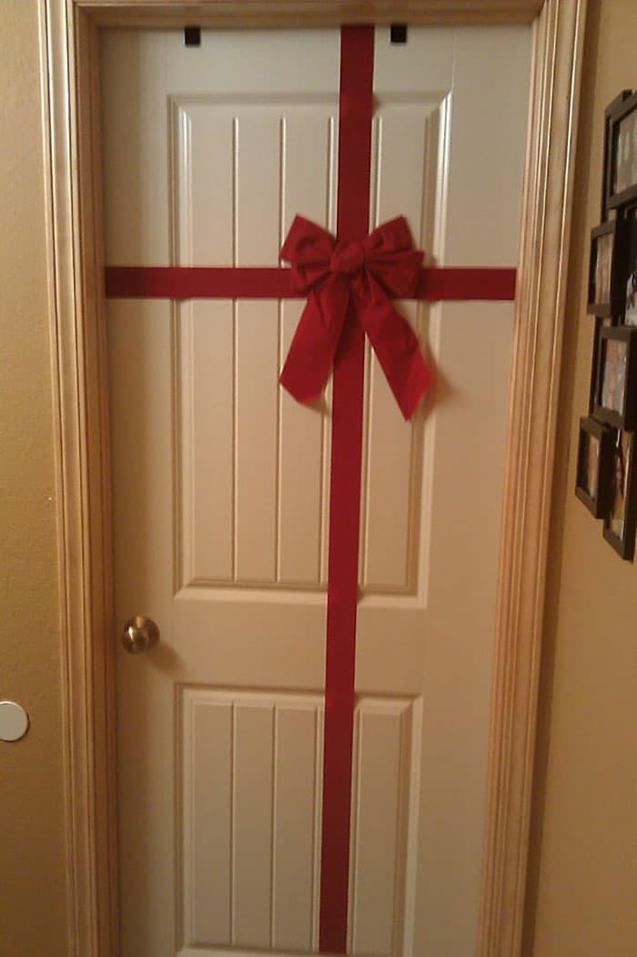 décorations de Noël insolites porte cadeau emballée