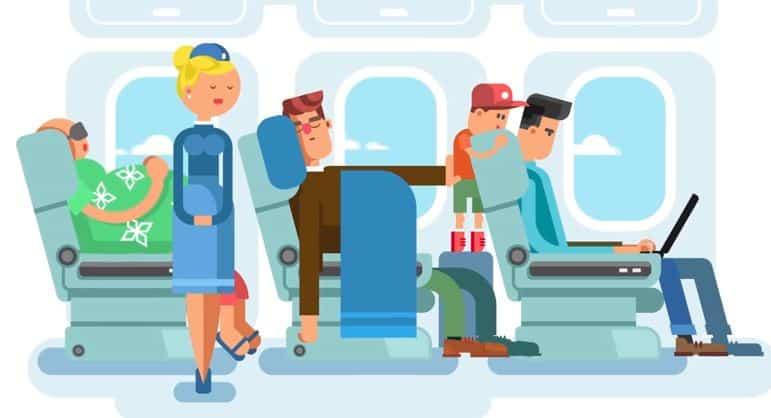 peur de l'avion passagers