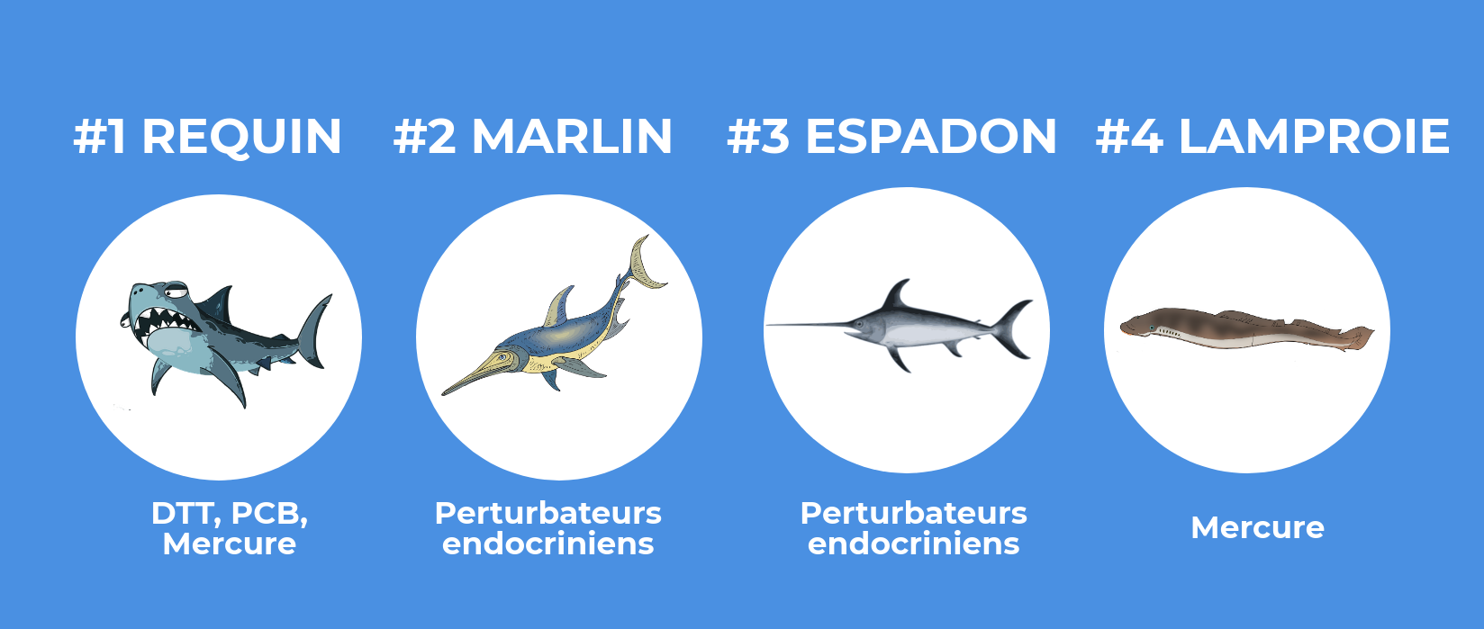 poissons les plus pollués