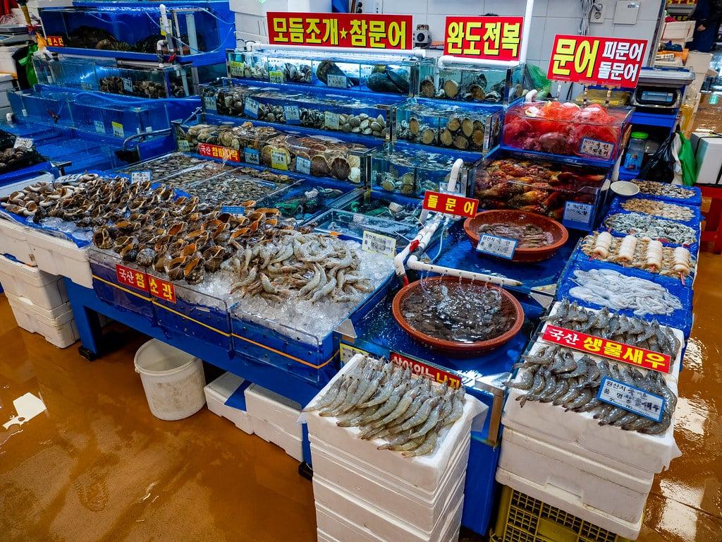 Corée poissons