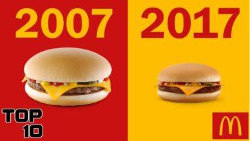 Mcdonald's avant après burger