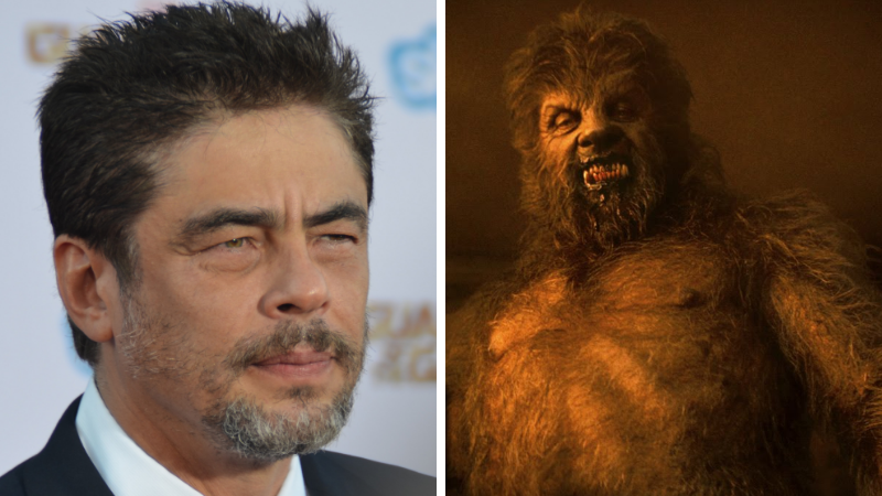 Benicio Del Toro Wolfman Maquillages de cinéma