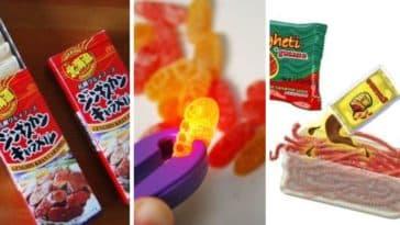 bonbons étranges sucreries