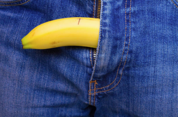 homme erection banane