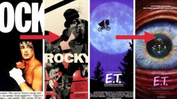 affiches de films revisitees