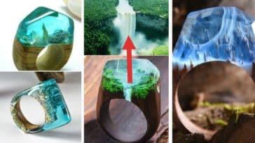 bagues en bois originales mode bijoux magiques