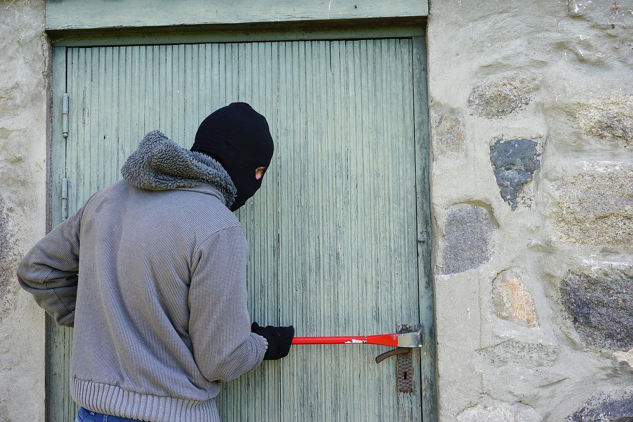 garage cambrioleur voleur porte